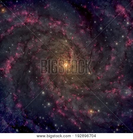 Fireworks Galaxy. Spiral Galaxy In The Constellations Cepheus And Cygnus.
