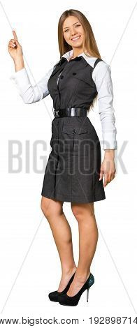 Business young portrait woman businesswoman gestures background