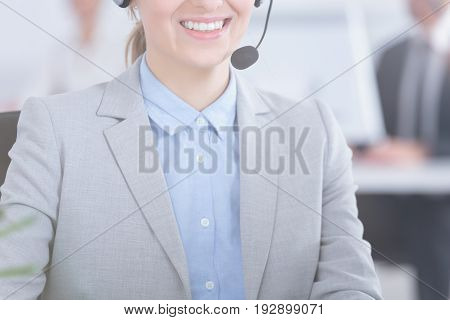 Woman Working As Telemarketer
