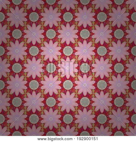 Seamless floral pattern can be used for sketch website background wrapping paper. Vector flower concept. Leaf natural pattern in colors. Summer design.