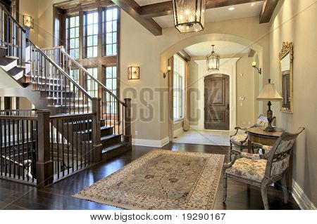 Luxury Home Entrance and Stairway