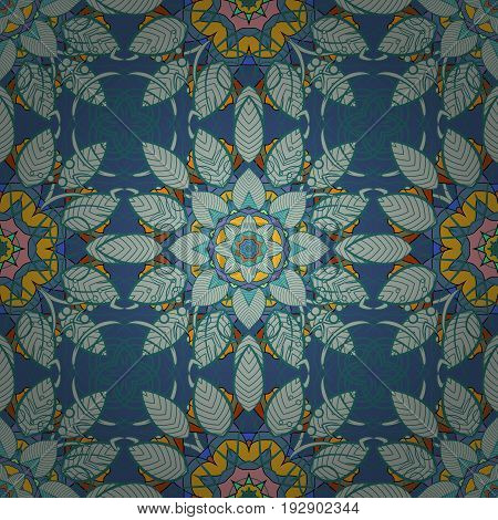 Hand drawn floral texture decorative flowers. Vector seamless colorful floral pattern.