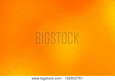 Orange Abstract Blur Background With Lens Flare