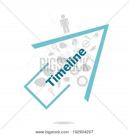 Text Timeline. Time Concept . Data Protection And Secure Elements Inforgaphic Set