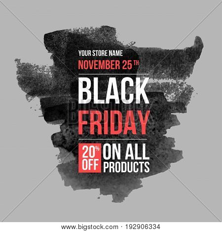 Black friday conceptual layout for web and print.