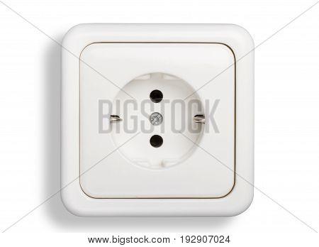 White isolated socket object element illustration design