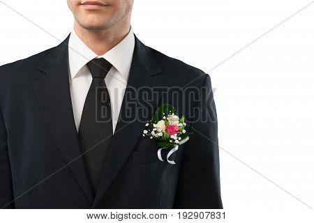 Male wedding groom fun white luxury beautiful