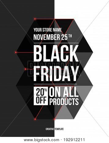 Black friday sale design template. conceptual layout for web and print.