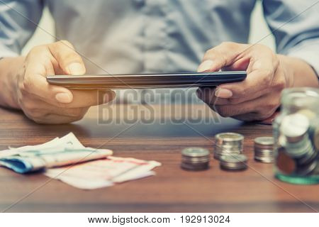 Online Banking And Internet Banking Concept