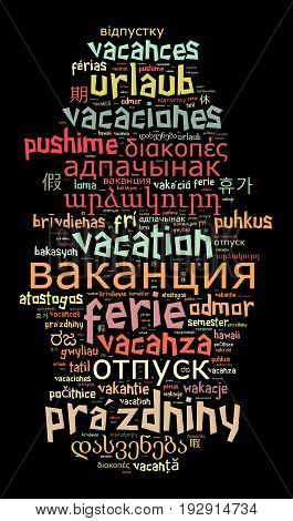 Word Vacation In Different Languages
