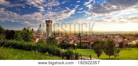 Beautiful Sunset View Of Lonato Del Garda, A Town And Comune In The Province Of Brescia, Italy