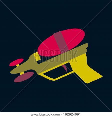 Icon in flat design Toy gun child