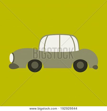 Icon in a flat style car business