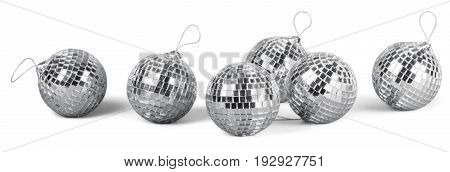 Balls silver mirror disco sphere nightlife white