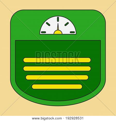 Icon in flat design Sports scales sport