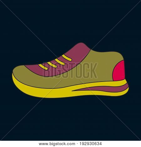 Icon in flat design sports shoes sport