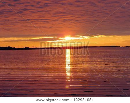The sunset in Newfoundland 5 June 2016 Canada