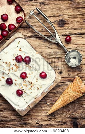 Ice-cream And Spoon For Ice Cream