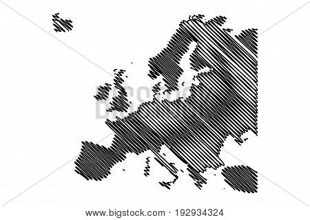 Map of Europe vector illustration , europe map,