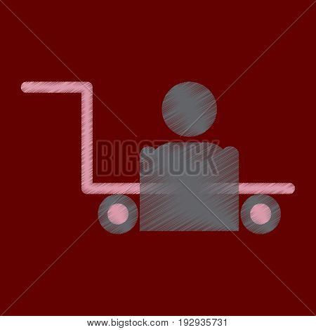 Flat Icon in Shading Style porter truck