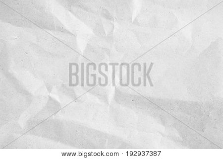 crumpled white paper background texture for design element