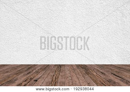 tan sepia colored cement background with brown wood panels stripe line perspective view for show,advertising,promote products or item on display