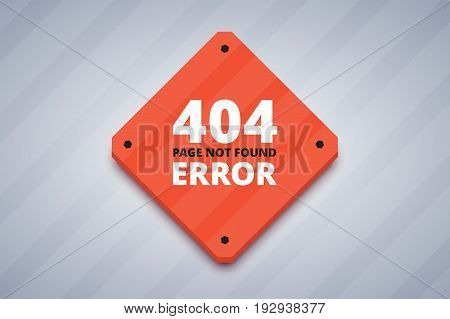 404  error page for website. Page not found error. Vector illustration in flat style