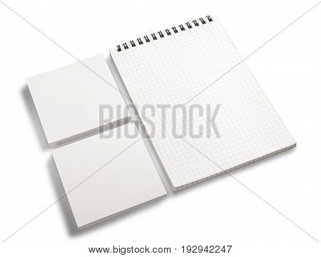 White blank notebook note notepad pad book