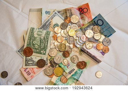Some Currencies of a Global World Market
