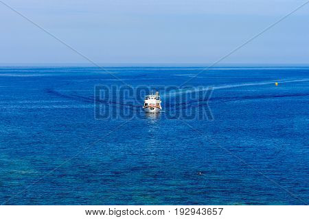 Boat On Sea In Summer Season.