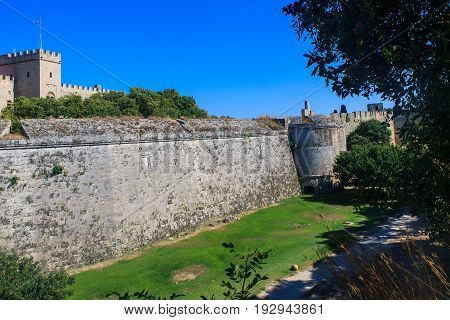 Medieval Castle Of The Knights Of Rhodes.