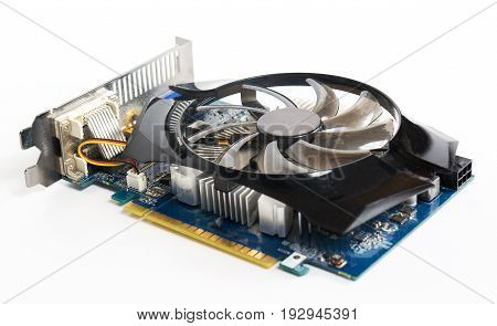 Video Card On A White Background, Pc Hardware, Isolated