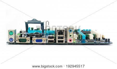 Motherboard Profile, Isolated On White Background, Computer Technology
