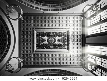 Elements of decor of the Kiev station. Moscow, Russia. It was designed by Ivan Rerberg and Vladimir Shukhov