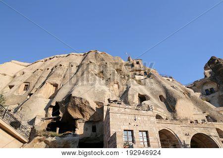 Rock Formations In Cavusin Village,  Cappadocia