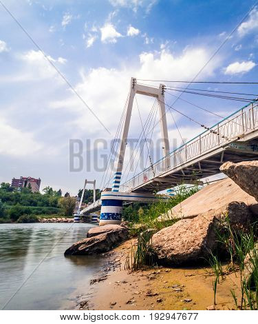 Cable-stayed Suspension Pedestrian Bridge