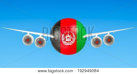 Afghan airlines and flying's concept. 3D rendering