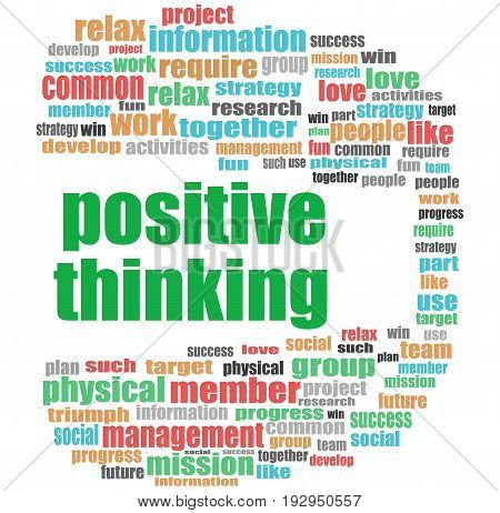 Text Positive Thinking. Education Concept . Word Cloud Collage