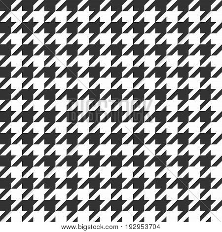 Houndstooth seamless pattern. Vintage textile texture. Classic fashion. Vector