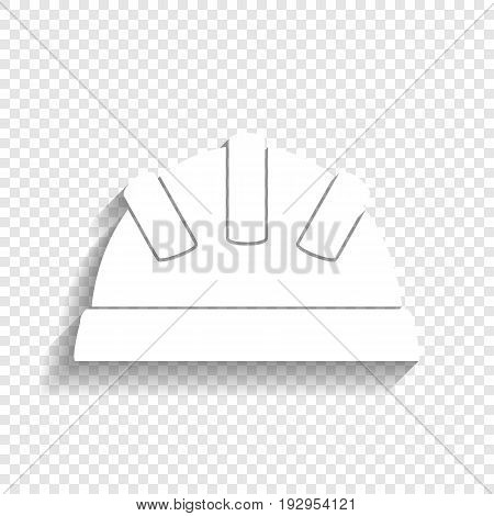 Baby sign illustration. Vector. White icon with soft shadow on transparent background.