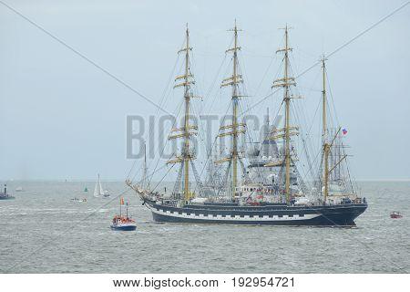 Den Helder, Netherlands - June 25, 2017:  Sail Den Helder - Marinedagen 2017