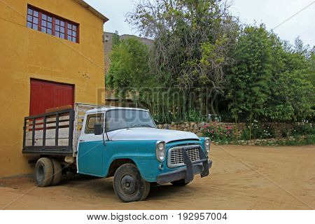 Vintage truck, Elqui Valley, Chile South America