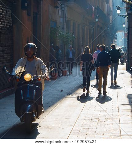 Barcelona Old Town Street, Spain