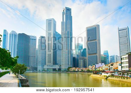 Singapore Downtown Skyline