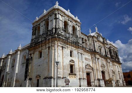 Leon Cathedral In Nicaragua, The Biggest Cathedral In Central America