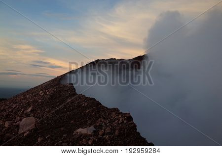 Volcan Telica Near Leon In Nicaragua, An Active Volcano