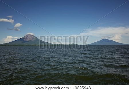 On The Way To Isla Ometepe With A View Of The Twin Volcanoes, Concepcion And Maderas