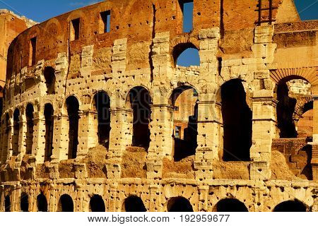 Rome Italy,November 7th 2013.The Roman Colosseum a true high lite of your visit to Rome.2000 years of antiquity and still standing tall.