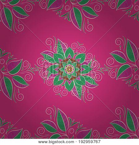 Colorful mandala. Anti-stress mandala. Decorative colored round ornament. Oriental flourish vector. Indian flower mandala. Yoga logo background for meditation poster.