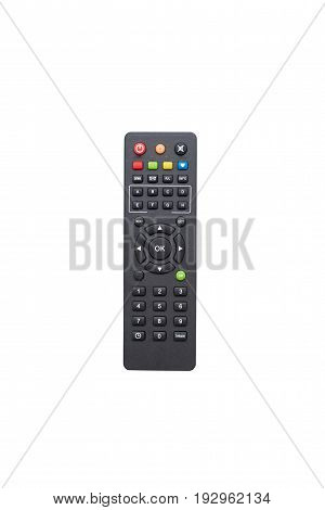 Tv remote control isolated on white .